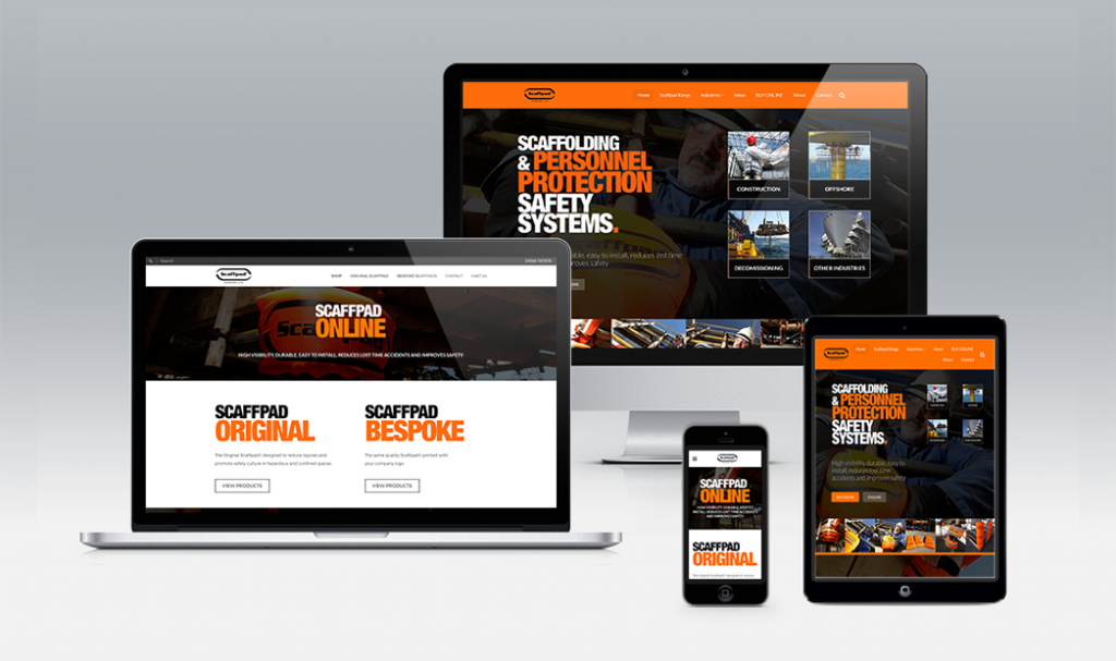 Scaffpad aberdeen responsive website design by web balance ltd