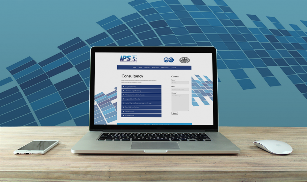 IPS petrophysical aberdeen responsive website design by web balance ltd