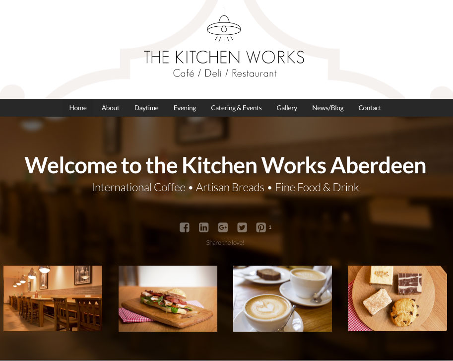 New website for the kitchen works aberdeen web balance ltd for The web kitchen